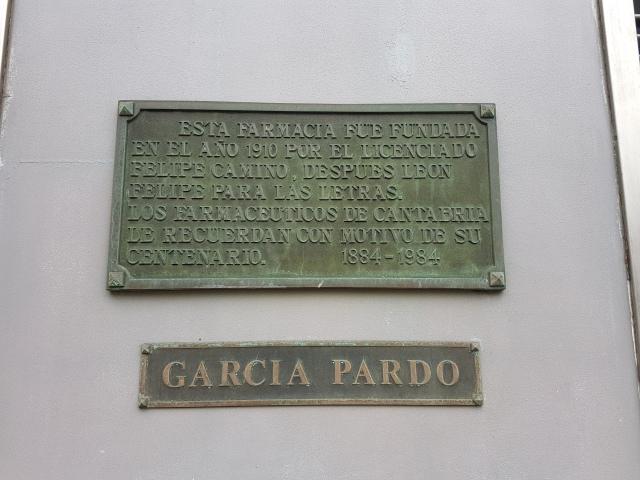 La rebotica que fuera de León Felipe está situada en la Plaza de la Esperanza, 7 de Santander